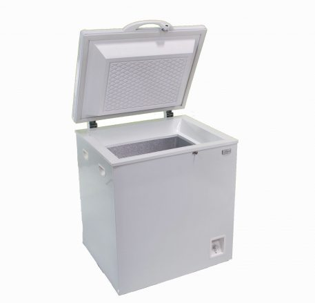 Solar powered ACDC chest style 50 liter refrigerator white