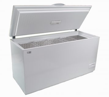 Solar powered DC 390 liter chest style freezer