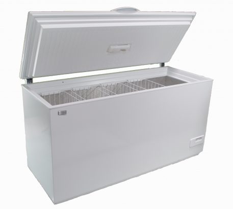 Solar powered DC 390 liter chest style freezer
