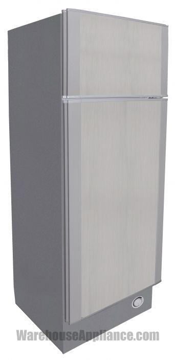 Solar powered 10.2 cubic foot refrigerator white exterior