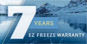 7 years EZ freeze warranty