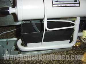 The EZ Freeze EZ Defrost System drip tray