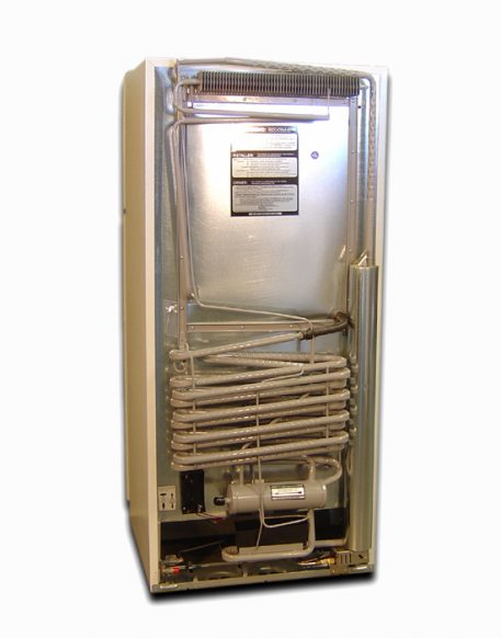 Absorption refrigeration system by EZ Freeze powers the gas refrigerator