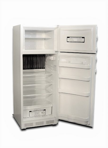 Reversible doors on this natural gas refrigerator