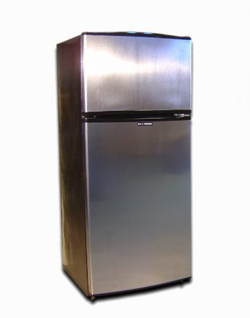 All the interior features of a non-electric fridge