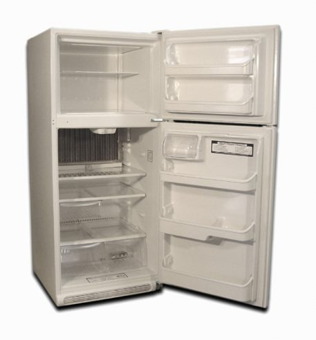 Fridge has plenty of space for food storage