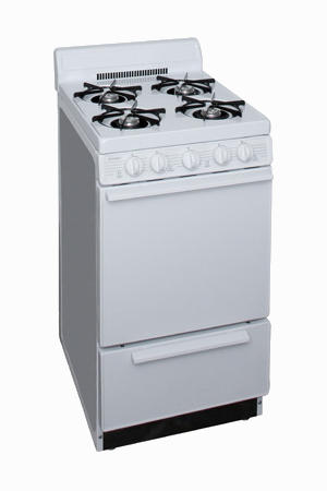 4 burner range in white