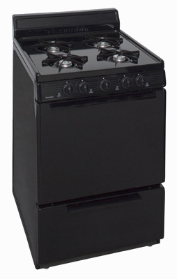 black 4 burner range