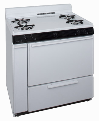 White 4 burner stove with oven
