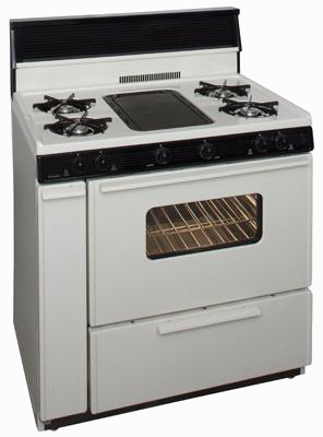Bisque 4 burner middle griddle stove with oven