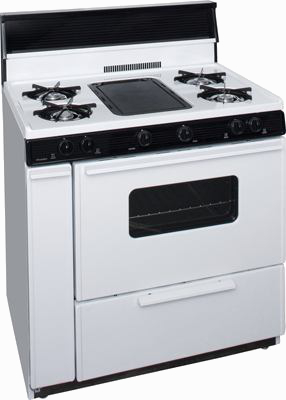 White range with middle griddle and oven