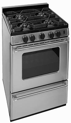 stainless steel 4 burner range