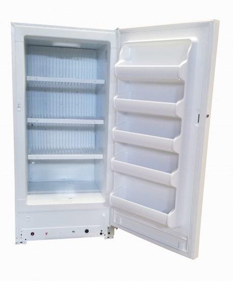 Interior view of 15 cubic foot blizzard ez freezer natural gas freezer