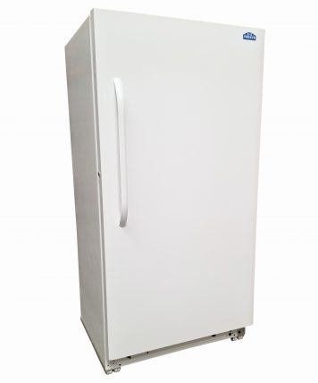 Exterior of 18 Cubic Foot White Natural Gas Freezer By EZ Freeze Blizzard