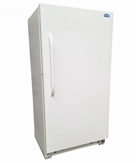 Exterior of 18 Cubic Foot White Natural Gas Freezer By EZ Freeze Blizzard