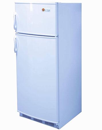 White 10 cubic foot DC fridge and freezer