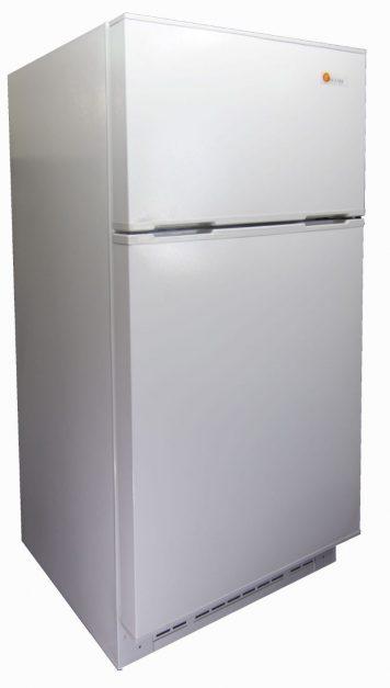 Sunstar solar refrigerator 16 cu ft white front