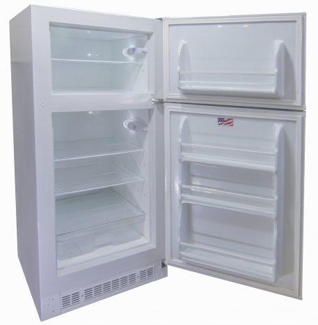 Sunstar solar fridge open door shelving white