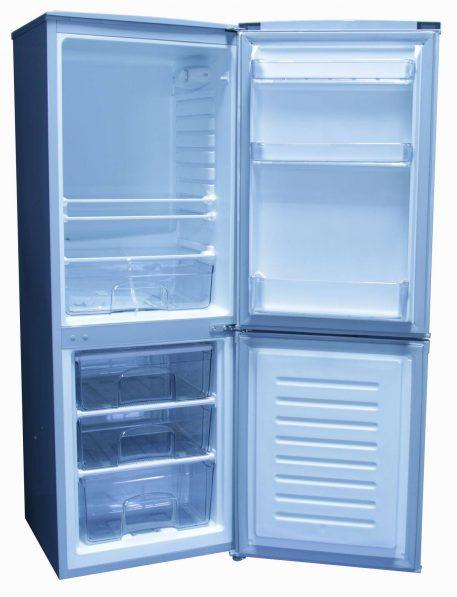 Both doors open on Sunstar solar fridge