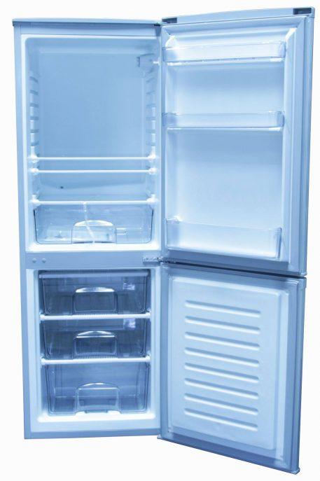 Interior of fridge adjustable shelves door storage
