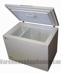 The solar powered Sunstar chest style freezer and refrigerator