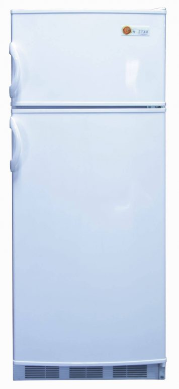 Front view of solar dc fridge freezer