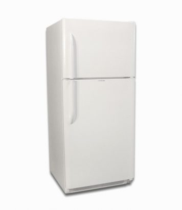 EZ Freeze white natural gas fridge 19 cu ft front closed