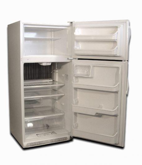 EZ Freeze white natural gas fridge 19 cu ft front doors open