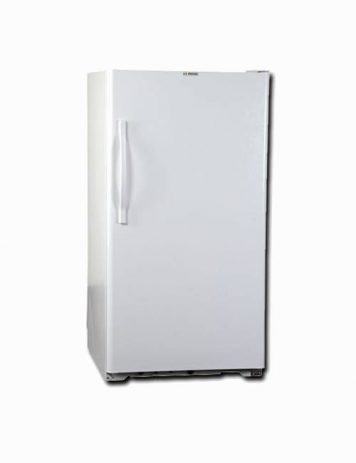 Exterior of 15 cubic foot natural gas freezer white