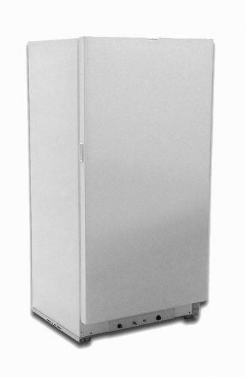 Exterior freezer white natural gas 18 cu ft