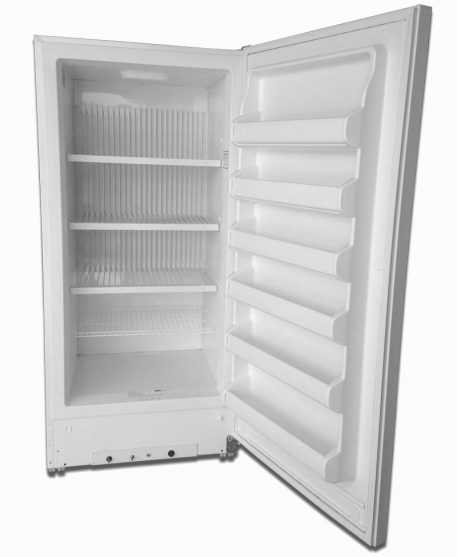 The interior of the Blizzard Gas Freeze with shelves