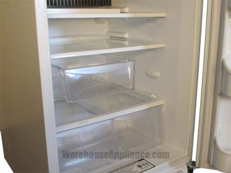 Glass shelves and deli drawer on this huge natural gas fridge