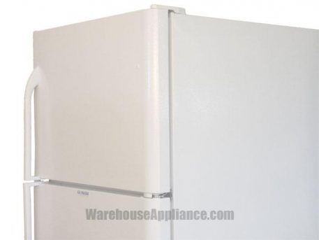 Hinge side white natural gas fridge