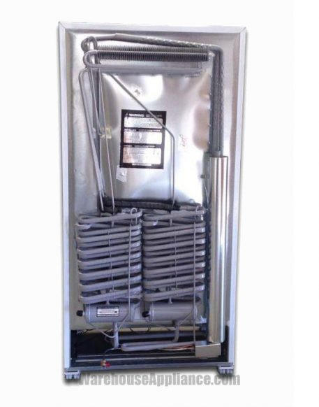 Dual cooling unit natural gas back of freezer