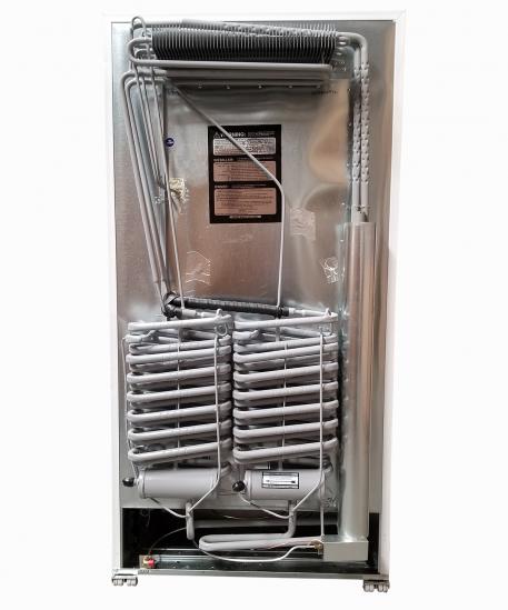 Rear view of 18 cubic foot EZ Freeze natural gas freezer