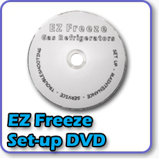 Need repair for your EZ Freeze gas fridge? Warehouse Appliance brings you this repair and maintenance dvd for your gas refrigerator or gas freezer.