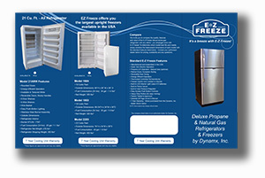 EZ Freeze Propane Refrigerator Brochure