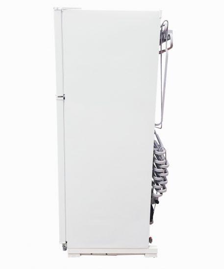 Side view of 14 cubic foot EZ Freeze fridge